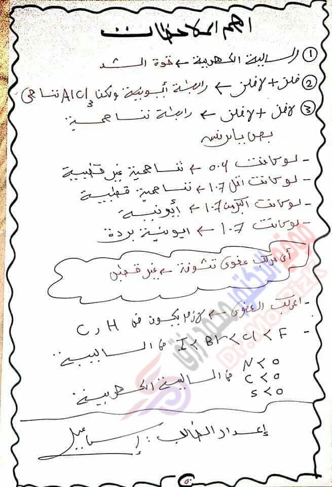 ملخص كيمياء 2 ثانوي الدرس الاول الاتحاد الكيميائي ترم ثانى  5