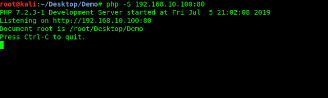 php server localhost