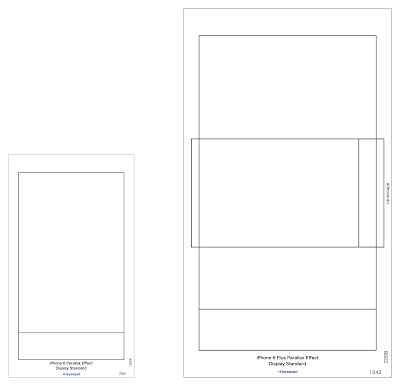 iPhone 6/6 Plusの壁紙テンプレート見本