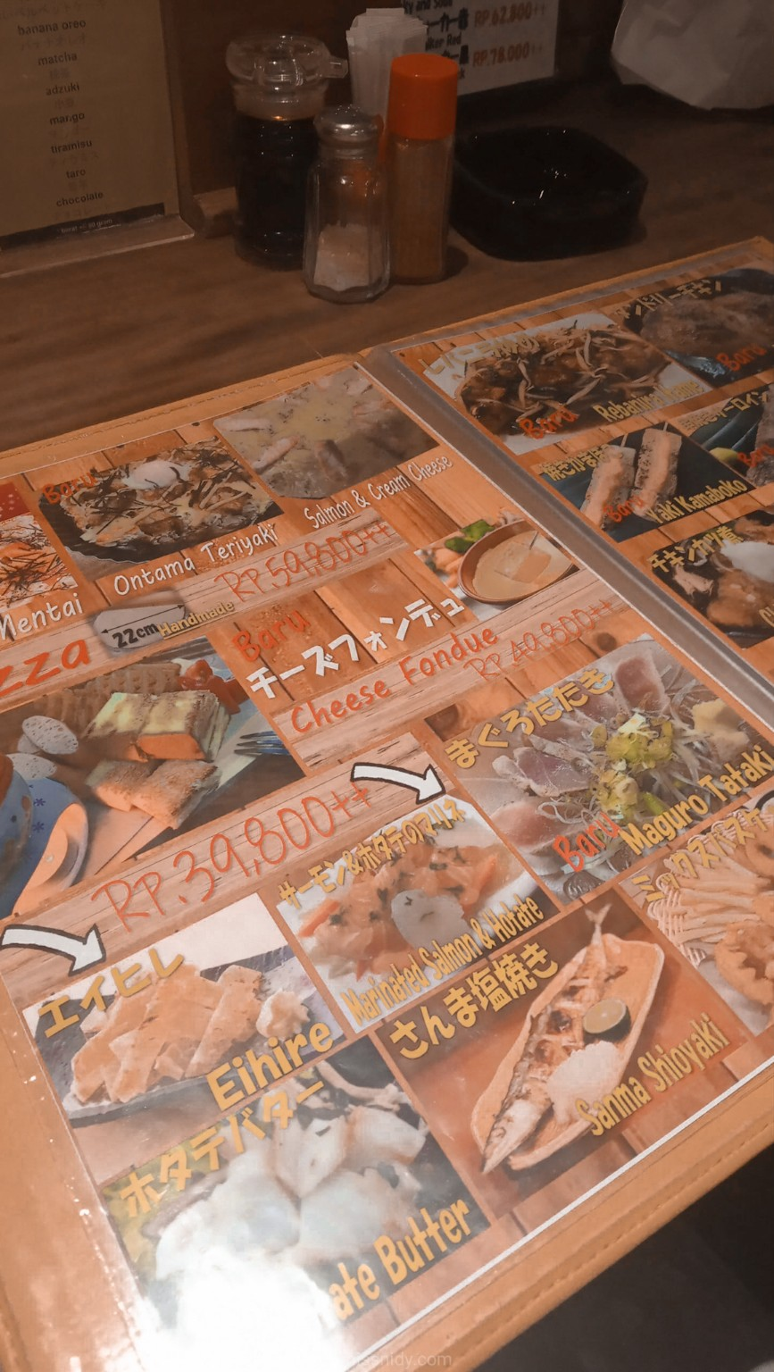 harga menu kashiwa little tokyo blok m