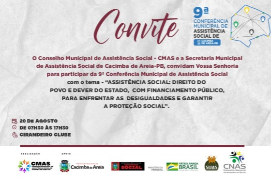 Cacimba de Areia prepara sua 9ª Conferência Municipal de Assistência Social