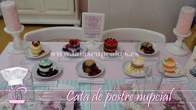 postres boda nupcial pasteles cata degustación Laia's Cupcakes Puerto de Sagunto