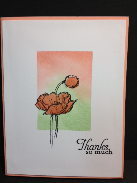 My Creative Corner Sponging Simply Sketched Thank You Card