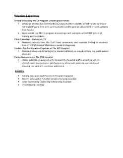 Sample Nursing Resume 3