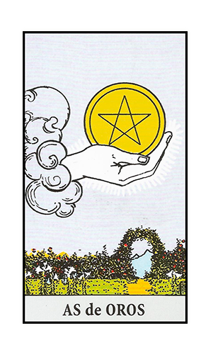 AS de Oros en el Tarot