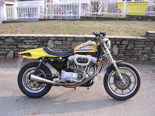dark dog sportster tracker by udo meuthen on the road version