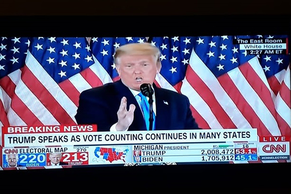 Discurso de Trump na Casa Branca. Café com Jornalista