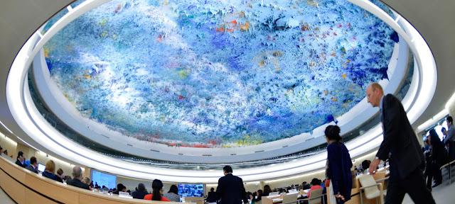 Vista panorámica de una reunión del Consejo de Derechos Humanos de la ONU en GinebraONU/Jean-Marc Ferre