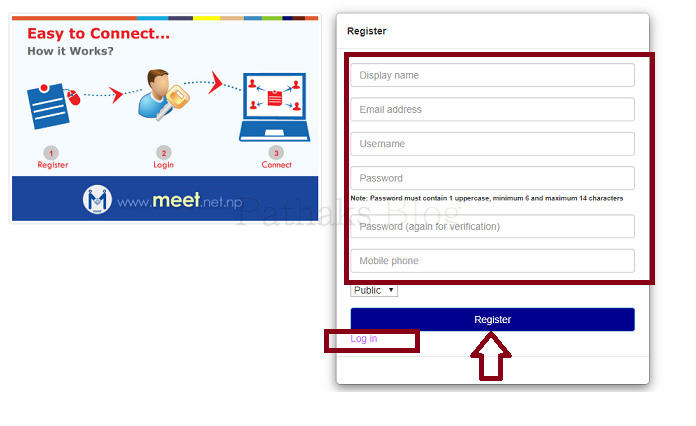 nepal telecom web sms, ntc meet web sms register, anil pathak, pathaks blog