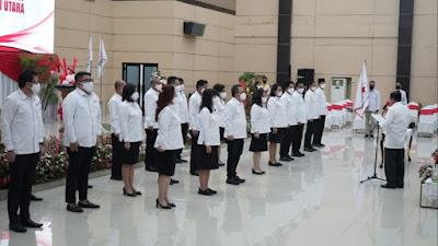 Didampingi Gubernur Olly, Jusuf Kalla Lantik Dewan Kehormatan dan Pengurus PMI Sulut