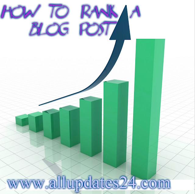 how to rank a blog post