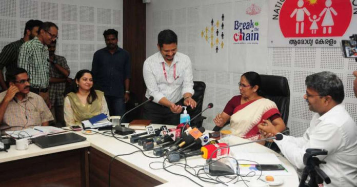 Hand washing can be done to combat corona; Health Minister Launches Break The Chain Campaign,www.thekeralatimes.com