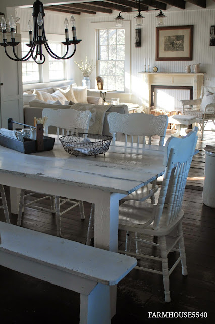 Tuesday 39 s farmhouse fancy plank top dining tables for Fancy farmhouse