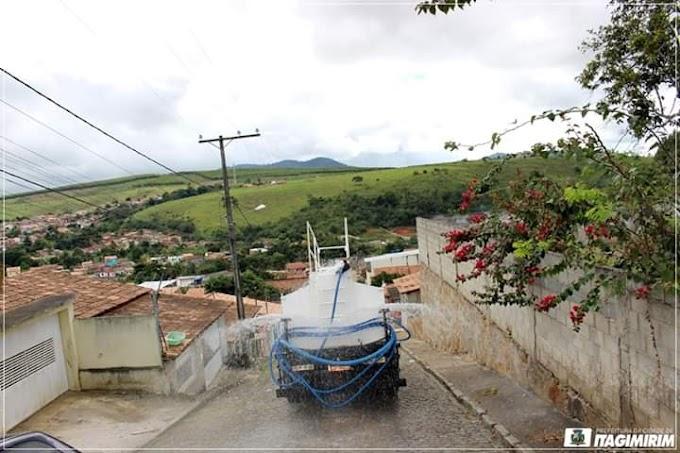 Itagimirim: Prefeitura realiza desinfecção em vários pontos do município