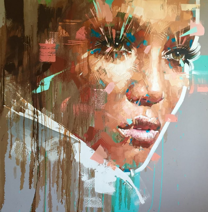 Im genes arte pinturas rostros de hombres y mujeres - Decorarte pinturas ...