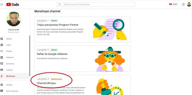 Proses Peninjauan Youtube