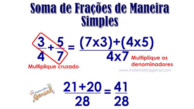 Como somar frações de maneira simples e rápida