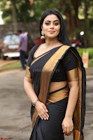 Poorna in Cute Backless Choli Saree Stunning Beauty at Avantika Movie platinum Disc Function ~  Exclusive 092.JPG