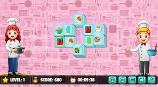 Jogue Kitchen Mahjong game online