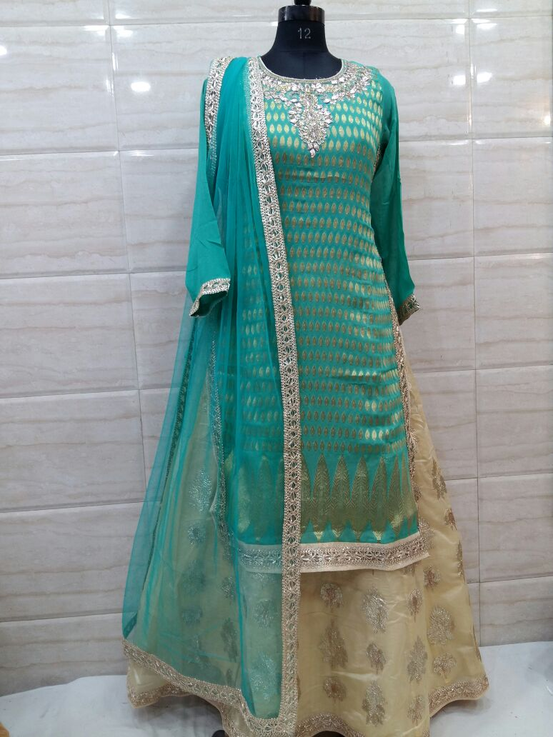 Rajasthani Gota Patti work Suits: Gota Patti work heavy suit ...