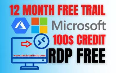 الحصول على RDP من مايكروسوفت 2021 و شرح Microsoft Azure rdp
