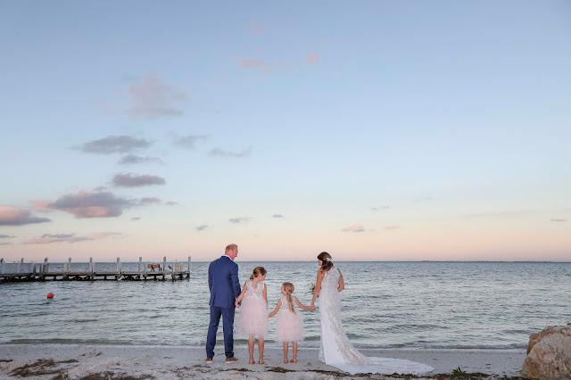 bride and groom on captiva island