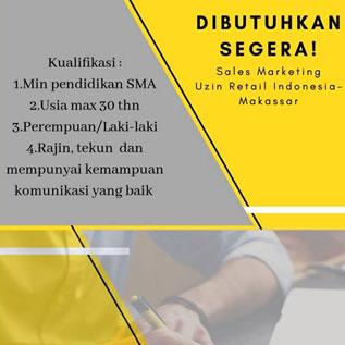 Lowongan Kerja Sales Marketing Uzin Retail Indonesia Makassar