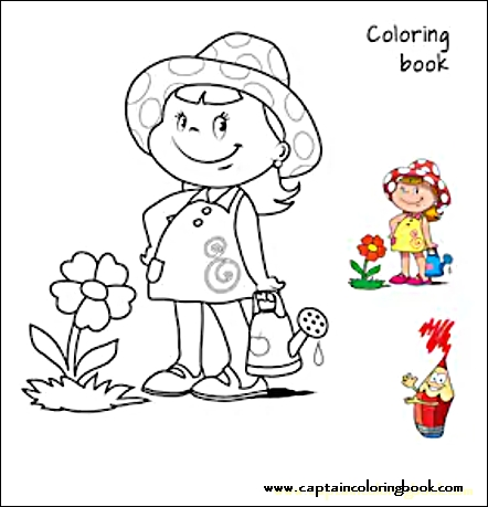 girls kids coloring