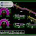 نموذج تسليح السلالم المنحنية اوتوكاد dwg