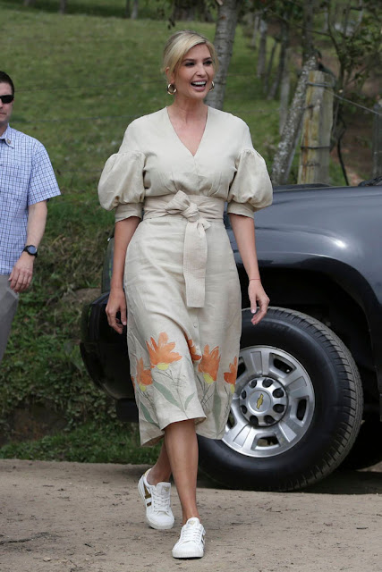 Ivanka Trump in Cucuta, Colombia Wearing Gola Sneakers ...
