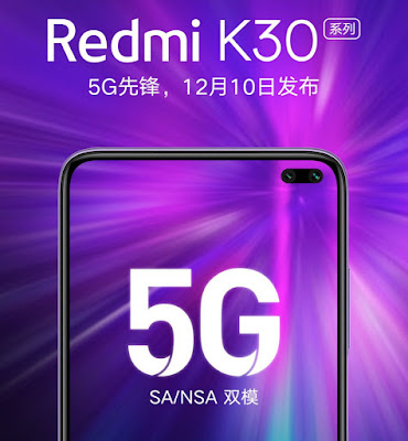 Redmi K30 to launch in China n December 10