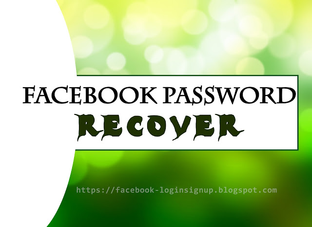 How to recover/reset my Facebook password
