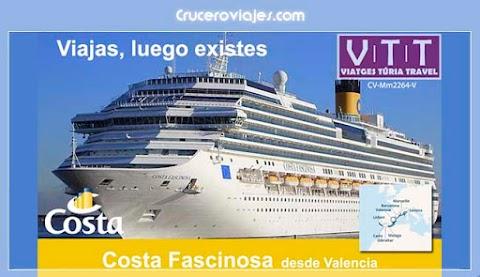 OFERTAS DE CRUCEROS - COSTA FASCINOSA DESDE VALENCIA