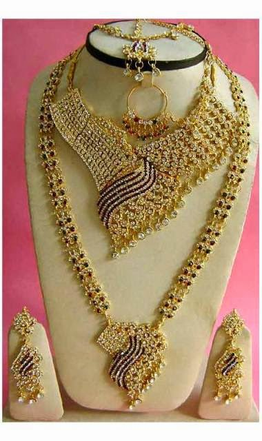 Bridal Gold Jewellery Sets Arabian Gold Necklace
