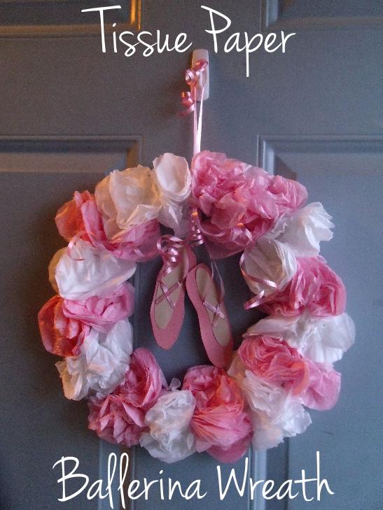 Hollys Ballet Themed 3rd Birthday Part Two DIY Ballerina Wreath