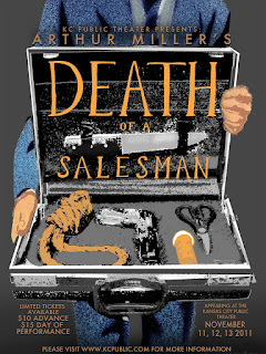 KC Public Theater production poster of Death of a Salesman by Arthur Miller