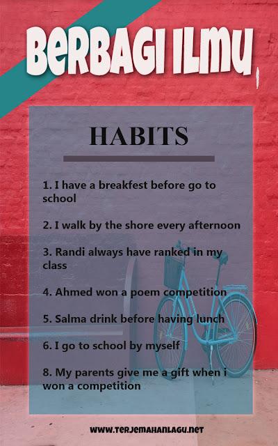 Habits Simple present tense