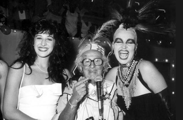 Elke Maravilha com Chacrinha e Claudia Raia