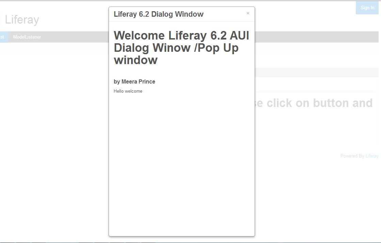 Liferay 6 2 AUI Dialog / Liferay Popup Window ~ Liferay Savvy
