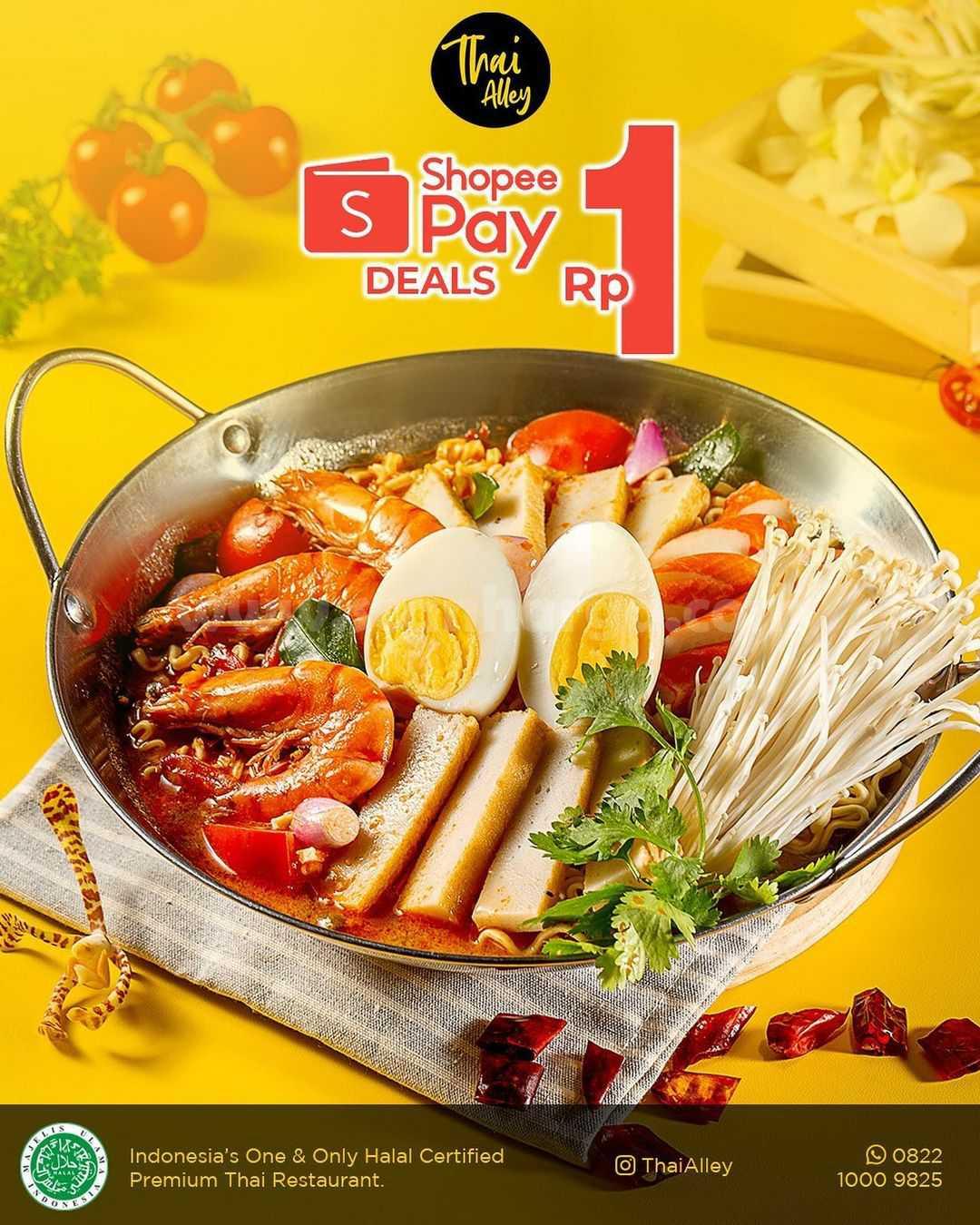 Thai Alley Promo Beli Voucher Diskon ShopeePay cuma Rp. 1,- aja