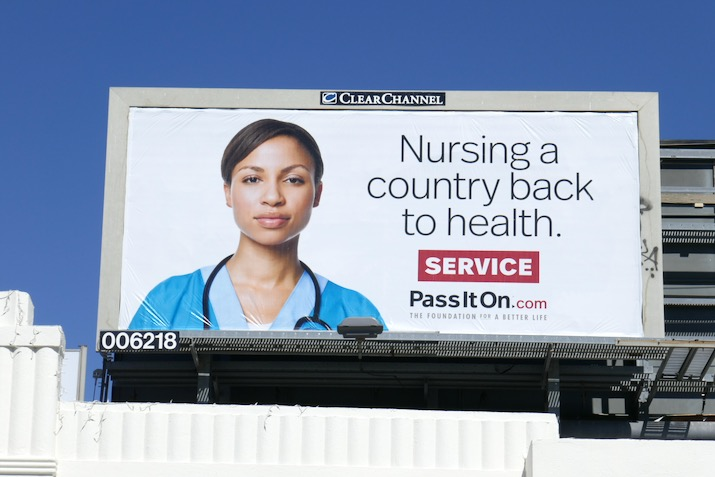 Nursing country back health Service billboard