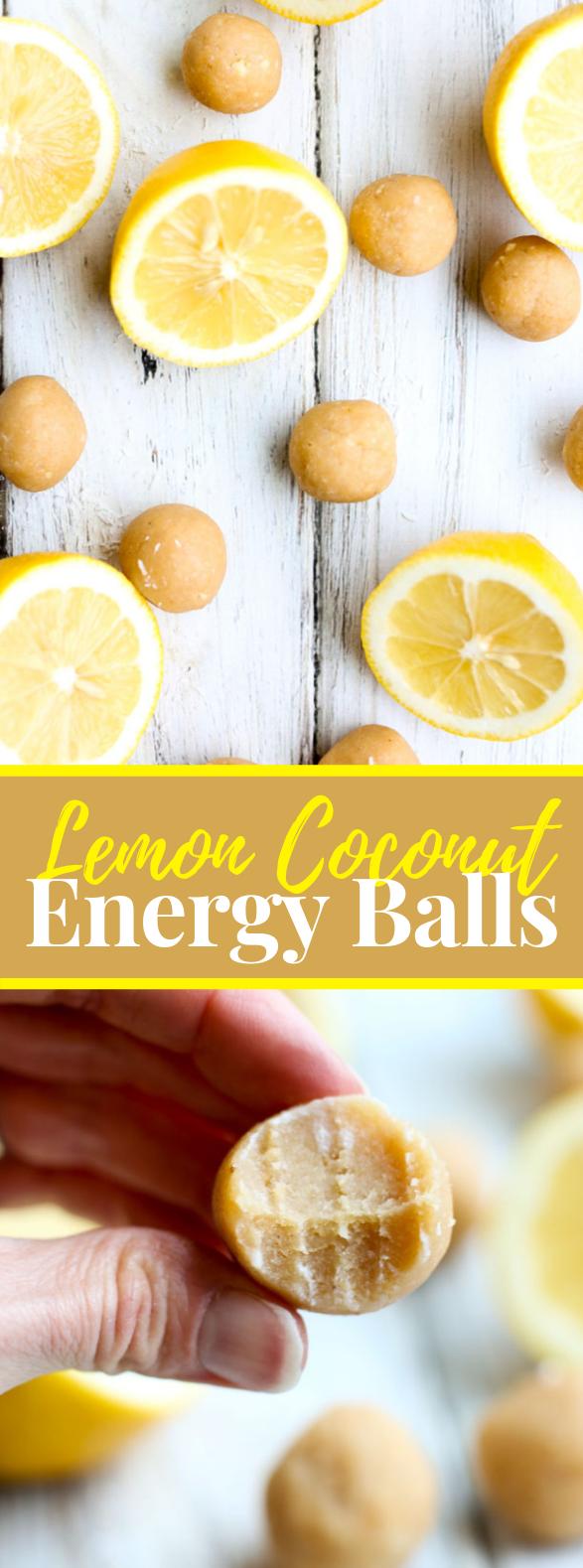 lemon coconut energy balls #healthy #protein