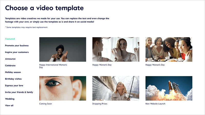 Use Magisto's video templates and more for easy video content creation