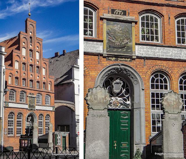 Restaurante histórico da Liga dos Armadores de Lübeck, Alemanha