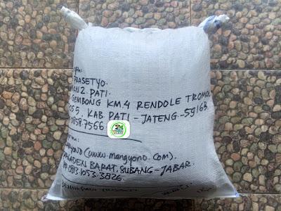Benih padi yang dibeli   AGUS PRASETYO Pati, Jateng.  (Setelah packing karung ).