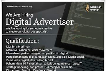 Loker Bandung Digital Advertiser Kebaikan Ummat