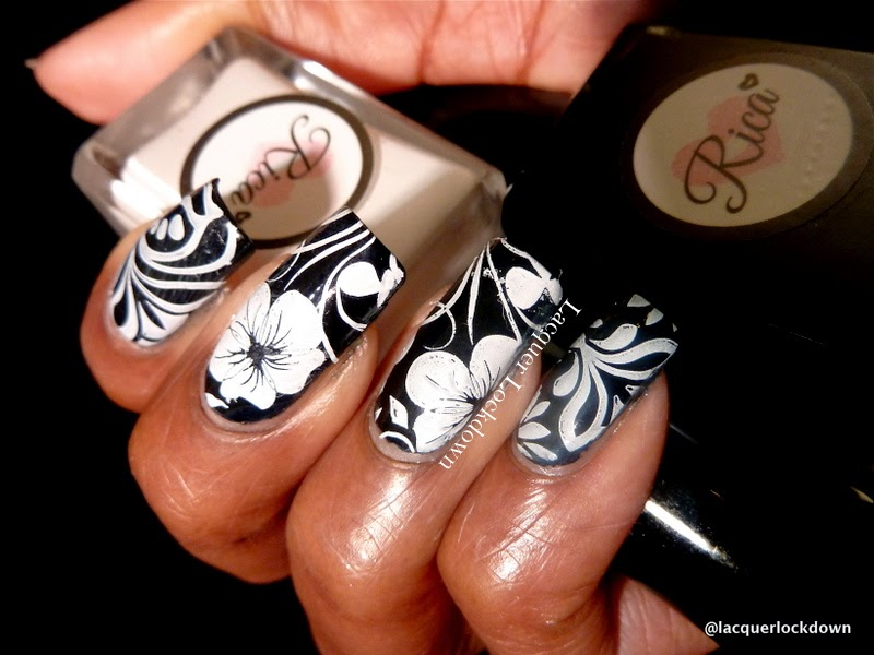 Lacquer Lockdown - nail art stamping polishes, stamping polish, Rica Whiteout, Rica Whiteout review