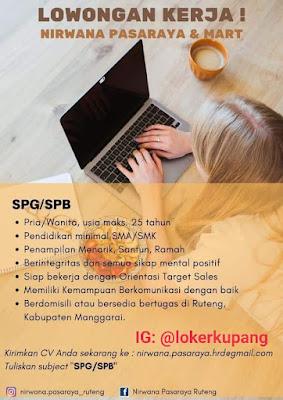 Lowongan Kerja Nirwana Pasaraya Ruteng SEbagai SPG/SPB