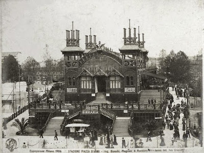 1906: esposizione - ferrovia sopraelevata in piazza armi