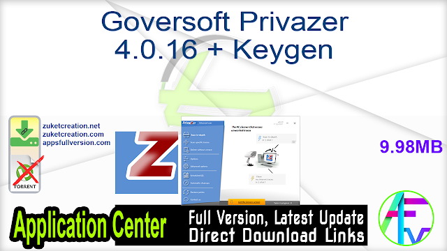 Goversoft Privazer 4.0.16 + Keygen